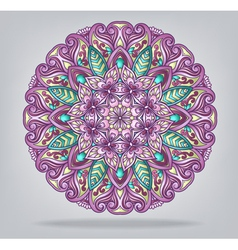 round ornamental ethnic ornament vector image vector image