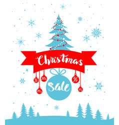 sale winter poster vector image vector image