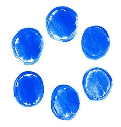 Set of blue acrylic round stains vector image