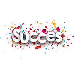 Success paper banner vector