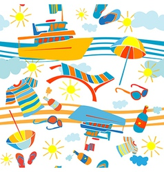 summer vacation pattern vector image