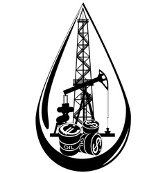 The oil business vector image