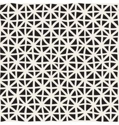Wavy Hand Drawn Lines Triangles Grid vector image
