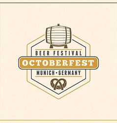 Beer festival octoberfest celebration retro style vector