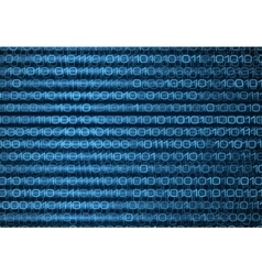 Abstract blue binary computer code technology data vector
