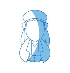 Cartoon man of orient christian design vector