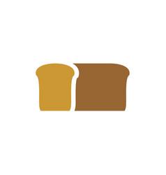 Bread logo bakery emblem loaf of soft tack sign vector