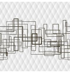 Monochrome geometrical rhomb seamless background vector