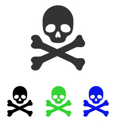 Death flat icon vector