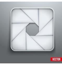 Camera aperture objective icon photography symbol vector