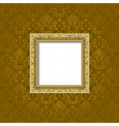 Golden frame and background vector