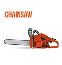 Chainsaw isolated on white background vector