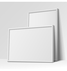 Realistic white horizontal and vertical frame vector