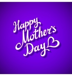 Purple blank card happy mother day heart vector