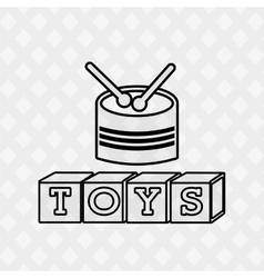 Toys kids design vector