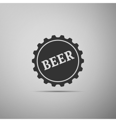 Beer bottle cup simple icon vector