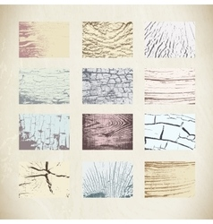 Wood textures template vector image