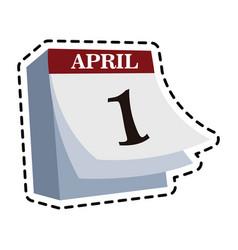 April 1 icon image vector