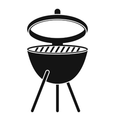 Barbecue icon simple style vector