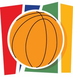 basketball graphic vector image