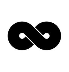 Black infinity symbol icon concept of infinite vector