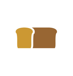 Bread logo bakery emblem loaf of soft tack sign vector