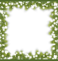 christmas pine fir frame vector image vector image