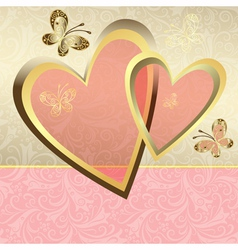 Delicate valentine frame vector image vector image