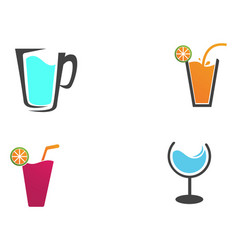 Drink juice logo and symbols template app vector