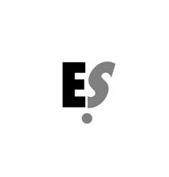 es e s black white grey alphabet letter logo icon vector image vector image