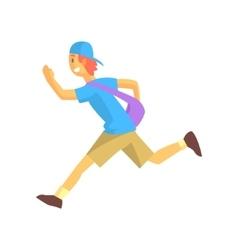 Express mail postman guy running vector