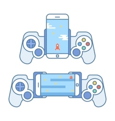 Gamepad for your phone Accessories for mobile vector image