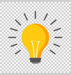 Halogen lightbulb icon light bulb sign vector