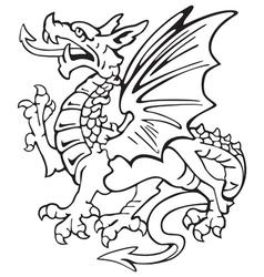 Heraldic dragon no1 vector