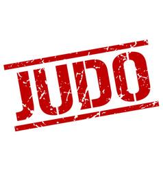Judo stamp vector