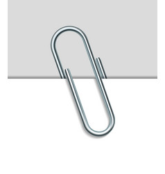 Metal paperclip and paper vector image