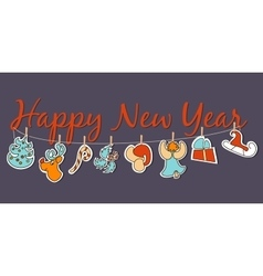 New Year banner Cozy New Year poster set vector image vector image
