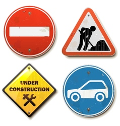 Old road signs vector