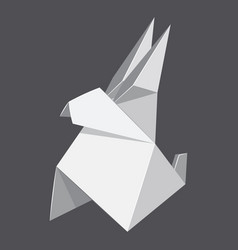 origami rabbit concept background realistic style vector image