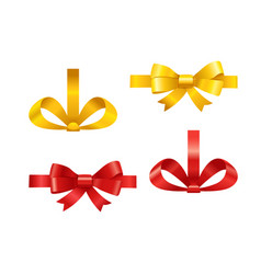 ribbons set isolated on white different ribbons vector image vector image
