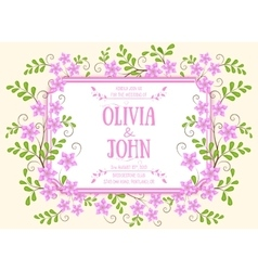 Wedding invitation card invitation card vector image vector image