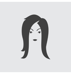 Woman hairstyle icon vector image vector image