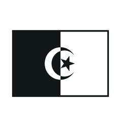 Algeria flag isolated vector