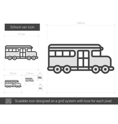 School van line icon vector