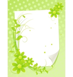 Paper and flowers vector