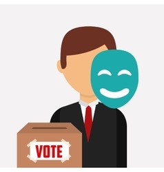 Election and vote design vector