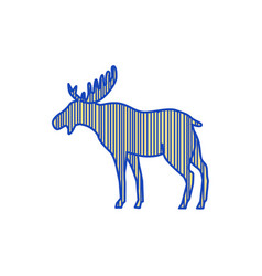 Moose silhouette drawing vector