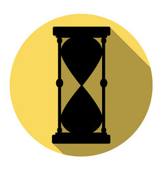 Hourglass sign   flat black vector