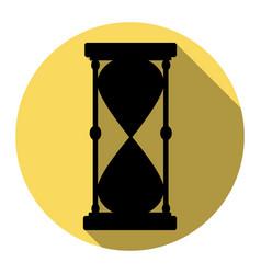 hourglass sign flat black vector image