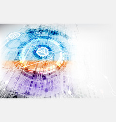 Abstract color digital communication technology vector